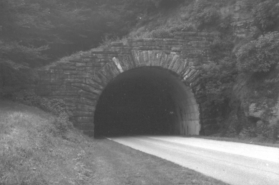 1935 Devil Courthouse Tunnel on Blue Ridge Parkway