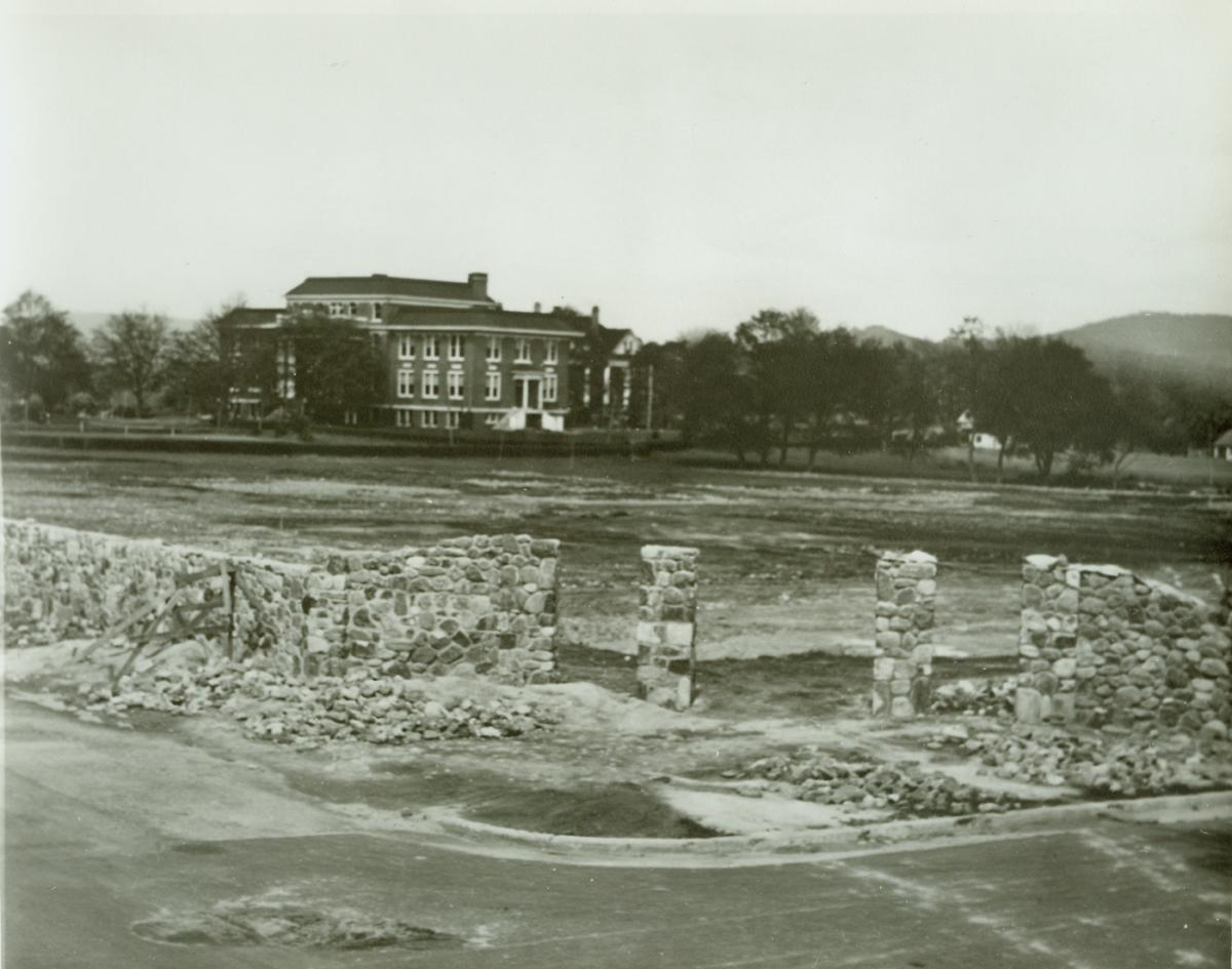 1936 Contruction of BC wall