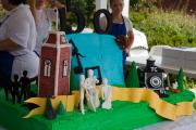 Cake - Building of 150th Birthday Celebration Cake - Sept. 3, 2011