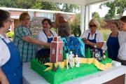 Cake - Building of 150th Birthday Celebration Cake - Sept. 3, 2011